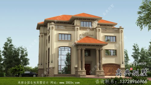 豪华高贵复式四层欧式别墅设计图纸