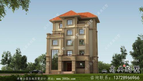 大气高端欧式风格五层别墅设计图