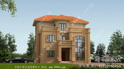 乡村自建复式三层欧式别墅设计图纸
