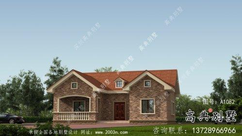 农村单层欧式风格别墅设计图纸及效果