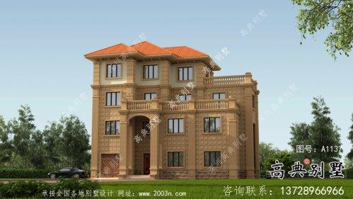 欧式古典四层别墅外观设计效果图大全