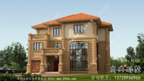 复式欧式三层别墅设计外观图片大全