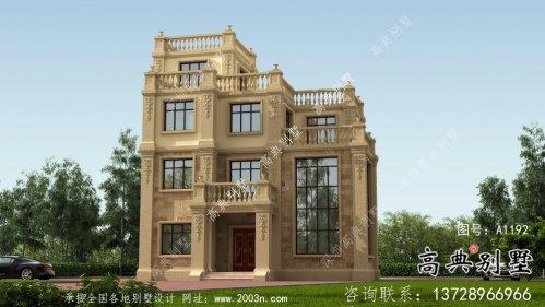 乡村最新款欧式古典小别墅设计图纸及