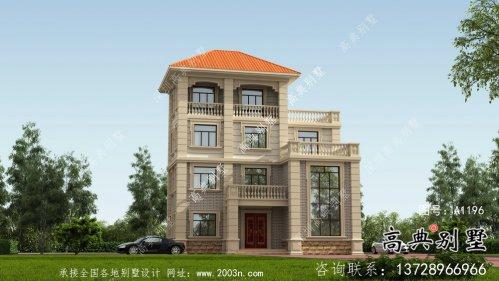 欧式古典小别墅设计图及设计效果图