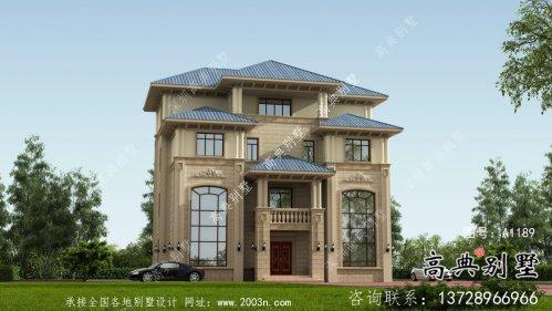 清新欧式四层别墅设计图纸大全