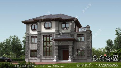 乡村新中式风格独栋别墅设计图及设计