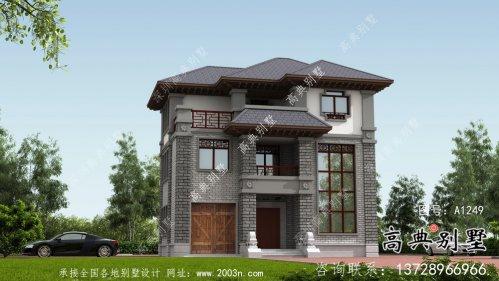 农村新中式别墅设计图及设计效果图