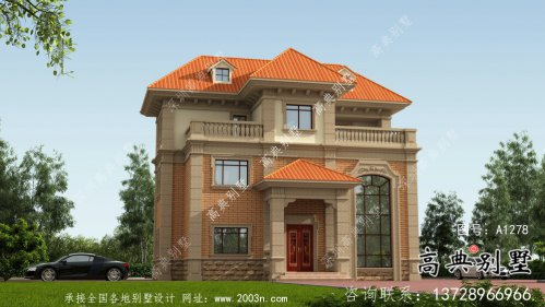 欧式三层复式小别墅图纸及效果图