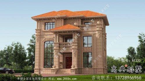 全套复式三层欧式豪华别墅自建施工效果