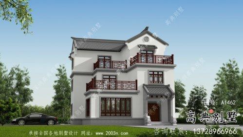 新中式三层乡村别墅设计图纸及效果图