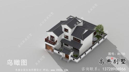 新中式三层苏式园林别墅设计图纸