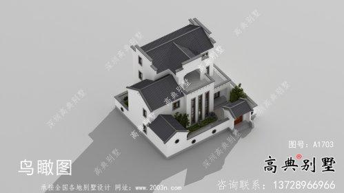 新中式三层徽派别墅平面设计图