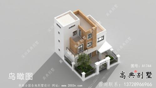 现代简约四层带庭院别墅设计图纸