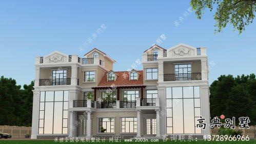 农村个性复式双拼三层别墅设计图