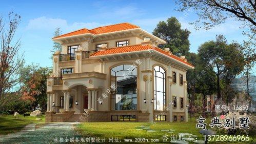超奢华复式三层欧式别墅设计图纸