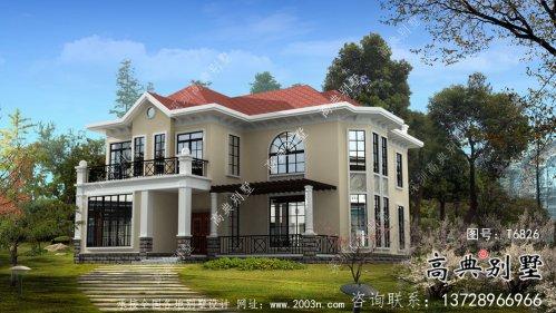 两层欧式风格别墅农村自建别墅效果图