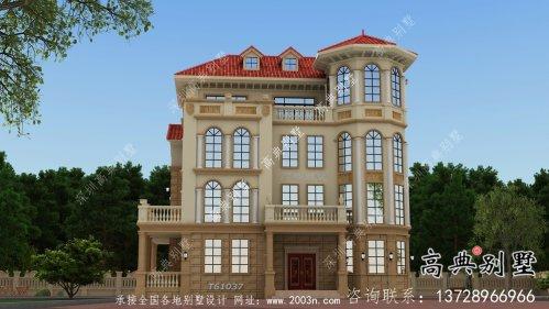 简单实用的四层欧式风格别墅设计图与