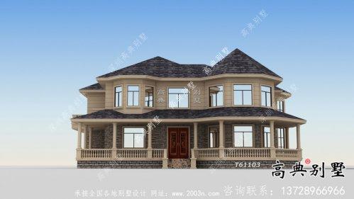 简单实用的欧式风格别墅设计图与实景