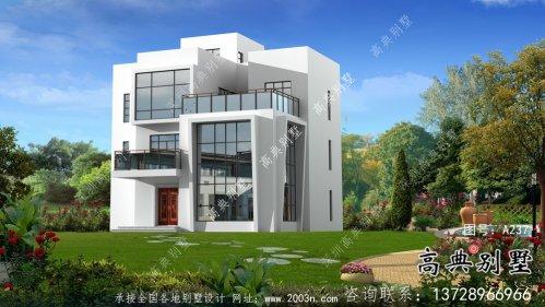 农村三层现代风格别墅设计图纸大全