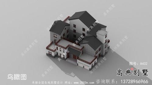 新中式三层庭院别墅自建设计图纸