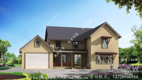 美式简欧二层别墅设计效果图