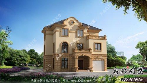 法式风格三层欧式别墅外观效果图