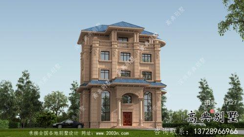 意大利风格坡屋顶房屋设计图+设计效果图
