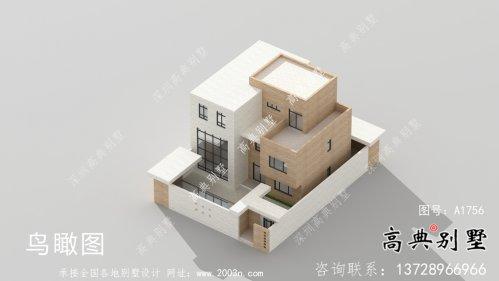现代简约精美院子平屋顶别墅设计图+设计效果图