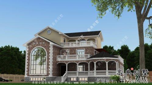法式风格农村住宅别墅设计图+设计效果图
