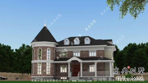 简易欧式风格纯朴农村自建别墅设计图+效果图