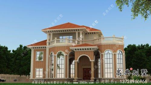法式风格舒适朴素住宅建筑设计图+效果图