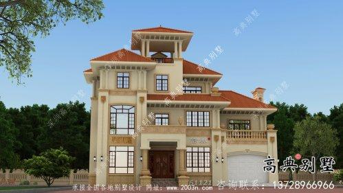 三层欧式风格简约别墅设计图