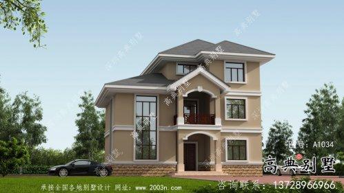 新农村复式三层欧式自建房设计图纸