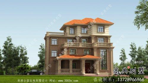 新农村自建复式四层欧式别墅设计图纸