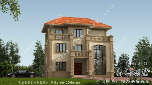 欧式复式三层小别墅设计图纸及效果图