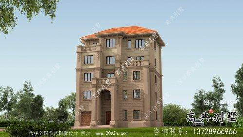 农村自建欧式五层别墅设计图