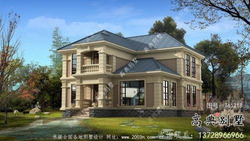 简洁欧式古典小别墅设计图及设计效果图