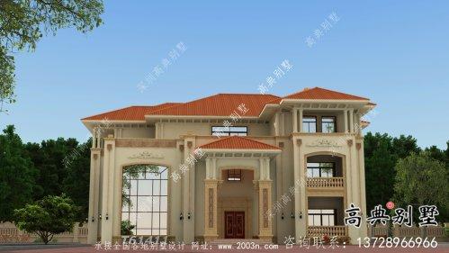 清新的欧式风格别墅设计方案图