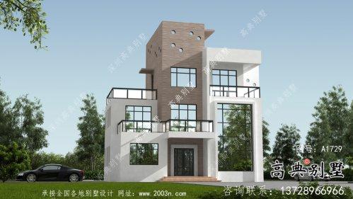 现代个性复式四层平屋顶别墅设计图纸