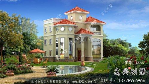 复式气派三层欧式别墅设计图纸