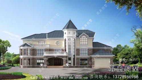 豪华精致三层欧式别墅设计图纸