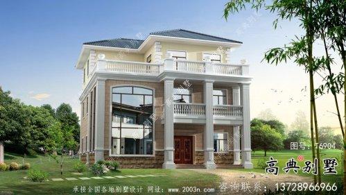 精致复式三层欧式别墅设计图纸