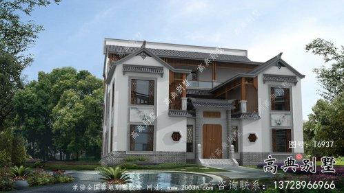 新中式三层院子别墅设计图纸