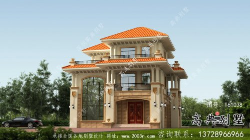 农村欧式三层意大利风格别墅设计外观