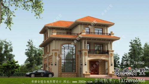 欧式三层复式高级别墅设计图