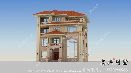农村复式四层别墅建筑设计图