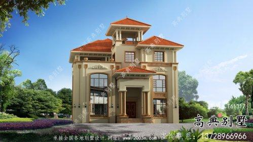 高端大气复式三层欧式别墅设计图纸