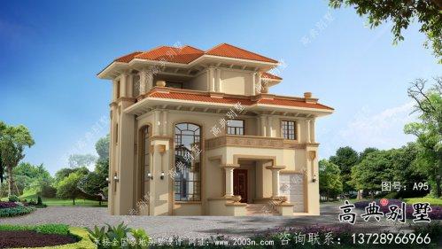 新农村三层高档欧式别墅设计图纸