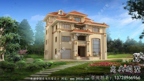 农村复式四层欧式别墅平面设计图