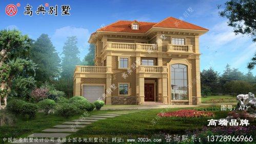 经济实用三层现代自建别墅设计图